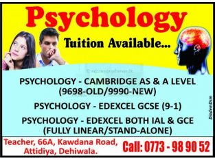 Psychology Tuition Available