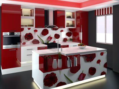 Design Classic Colorful Kitchen Pantry Cupboard in Srilanka