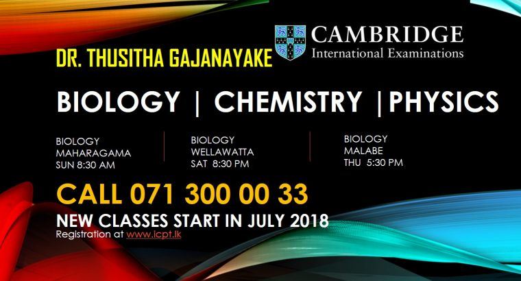 Cambridge /Edexcel /Local English medium Biology OL & AL
